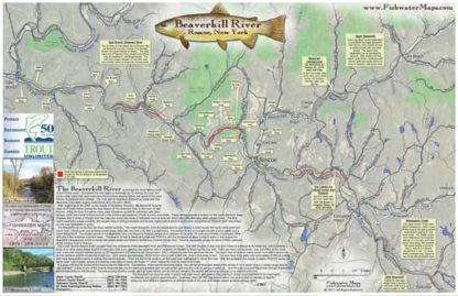 Beaverkill River, New York Fly Fishing Map Trout Fishing Guide