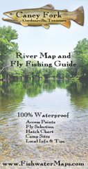 Caney Fork River, Tennessee Fly Fishing Map Trout Fishing Guide