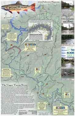 Toccoa River Georgia Trout Fishing Map