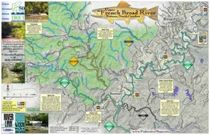 Upper French Broad Map, River Rosman, NC