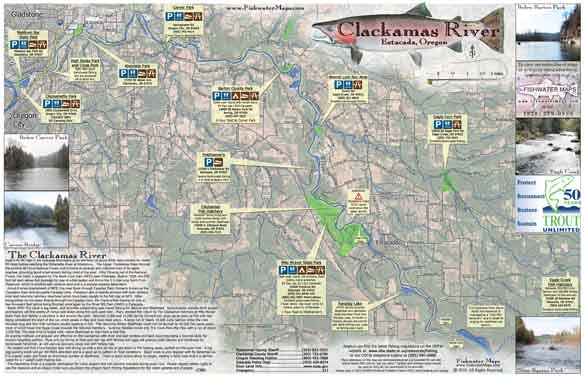 Clackamas River Map, Estacada, OR