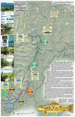 North Carolina Toe River Trout Fishing Delayed Harvest Map