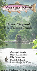 Watauga River, Tennessee Fly Fishing Map Trout Fishing Guide