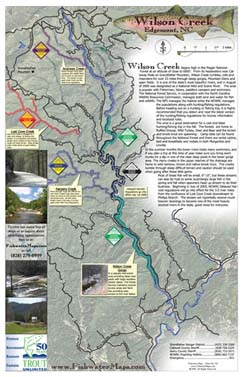 North Carolina Wilson Creek Trout Fishing Delayed Harvest Map